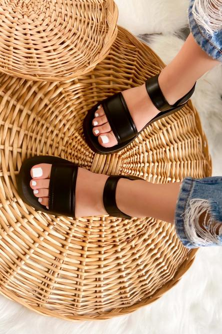 Sandales Femme Plateforme Noir / Réf : 7839-0