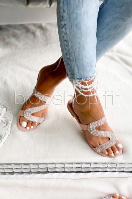 Sandales Femme Rose / Réf : VIVI025