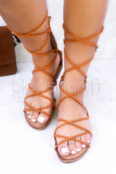 Sandales Femme Spartiates Camel / Réf : H50006