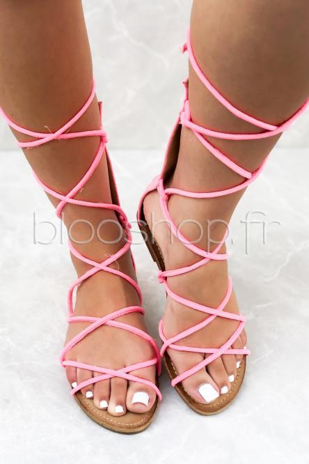 Sandales Femme Spartiates Fuchsia / Réf : H50006
