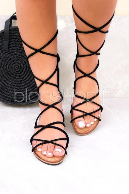 Sandales Femme Spartiates Noir / Réf : H50006