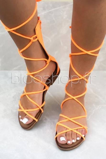 Sandales Femme Spartiates Orange