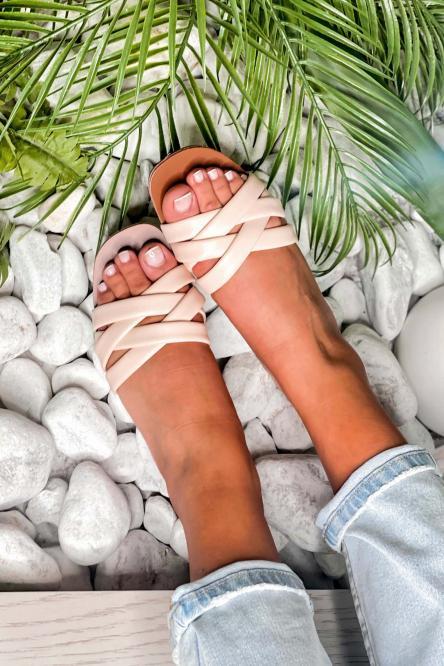 Sandales Femme Tressés Beige / Réf : FB197-2