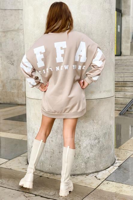 Sweat Robe Femme Buffalo Beige / Réf : 6811-2