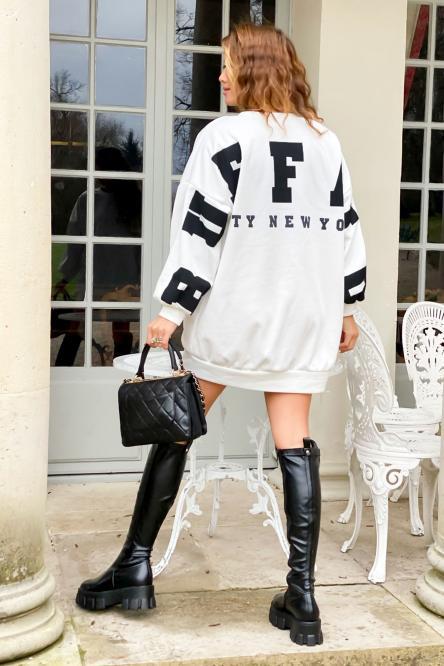 Sweat Robe Femme Buffalo Blanc / Réf : 6811-1