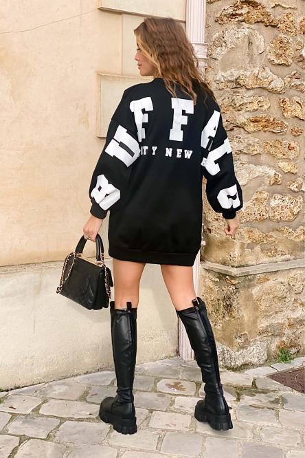 Sweat Robe Femme Buffalo Noir / Réf : 6811-0