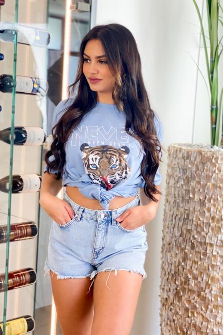 Tee Shirt Femme Tiger Bleu / Réf : 7755-6