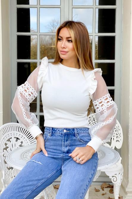 Woman Top White