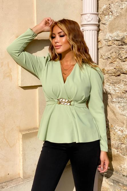 Woman Top Green