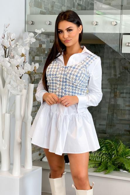 Top Femme Tweed Bleu / Réf : 2088-6