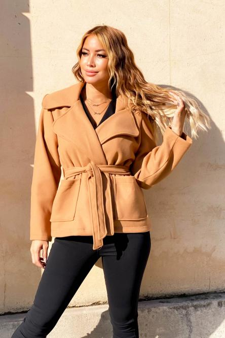 Trench Femme Court Camel
