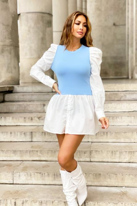 Tunique Femme Bimatière Bleu / Réf : 502