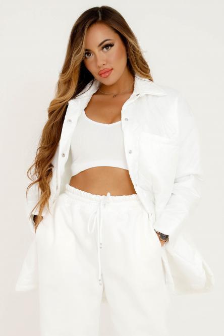 Veste Femme Matelassée Blanc / Réf : 8155-1