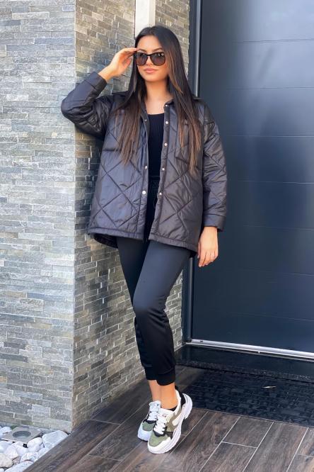Veste Femme Matelassée Noir / Réf : 8155-0
