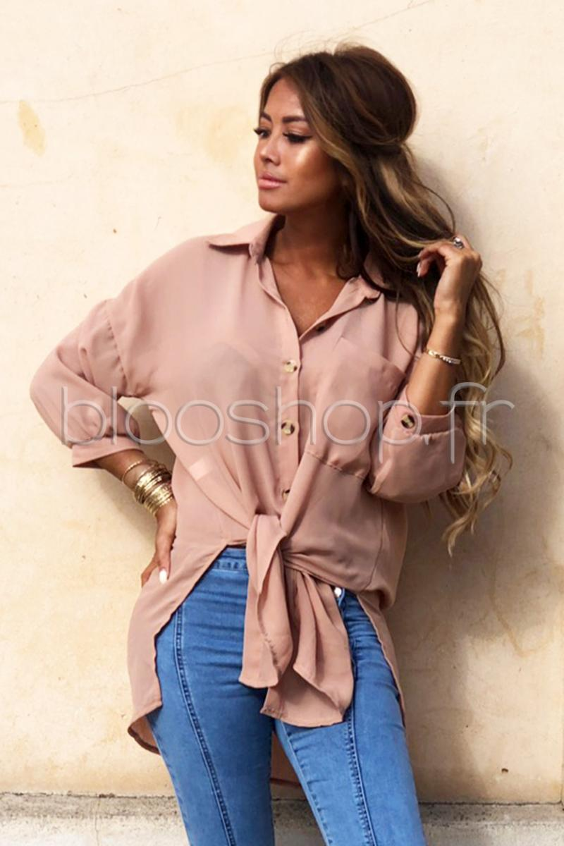 Chemise Ample Femme Taupe / Réf : 5110
