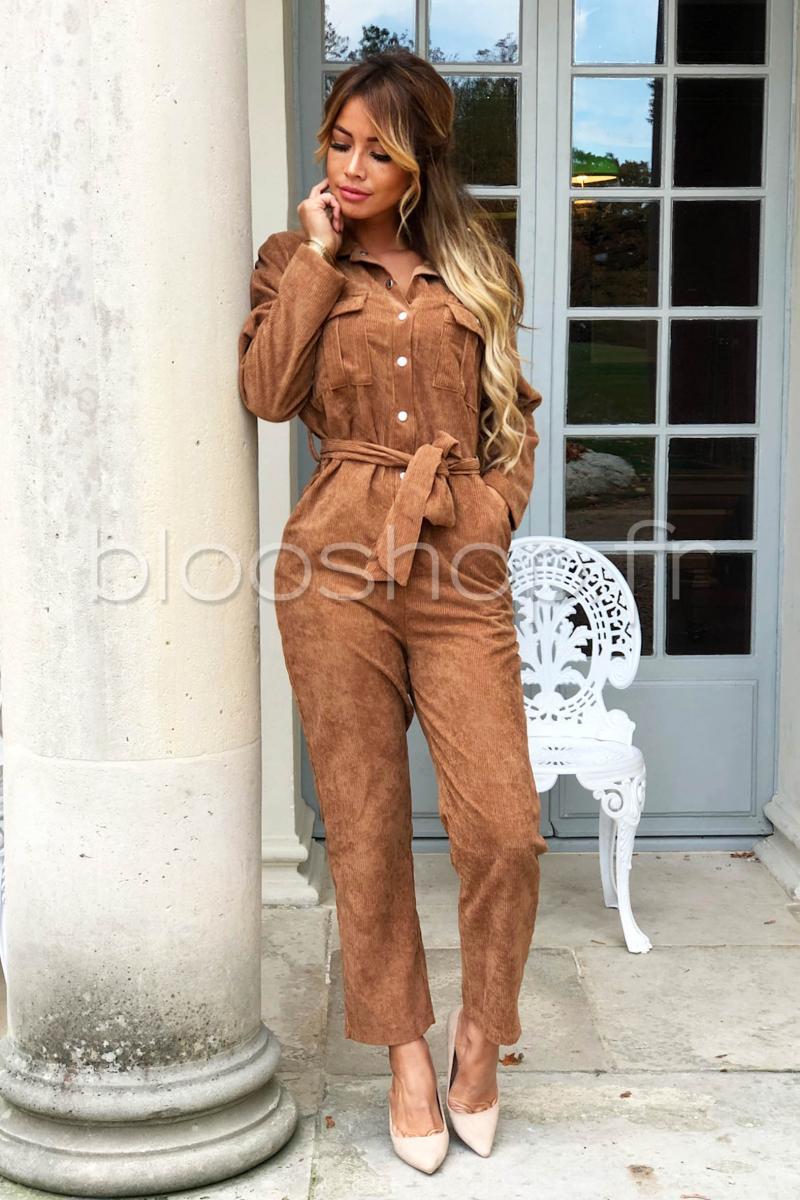 Camel Blooshop Réf830 Combinaison Femme Velours K3u1clTFJ
