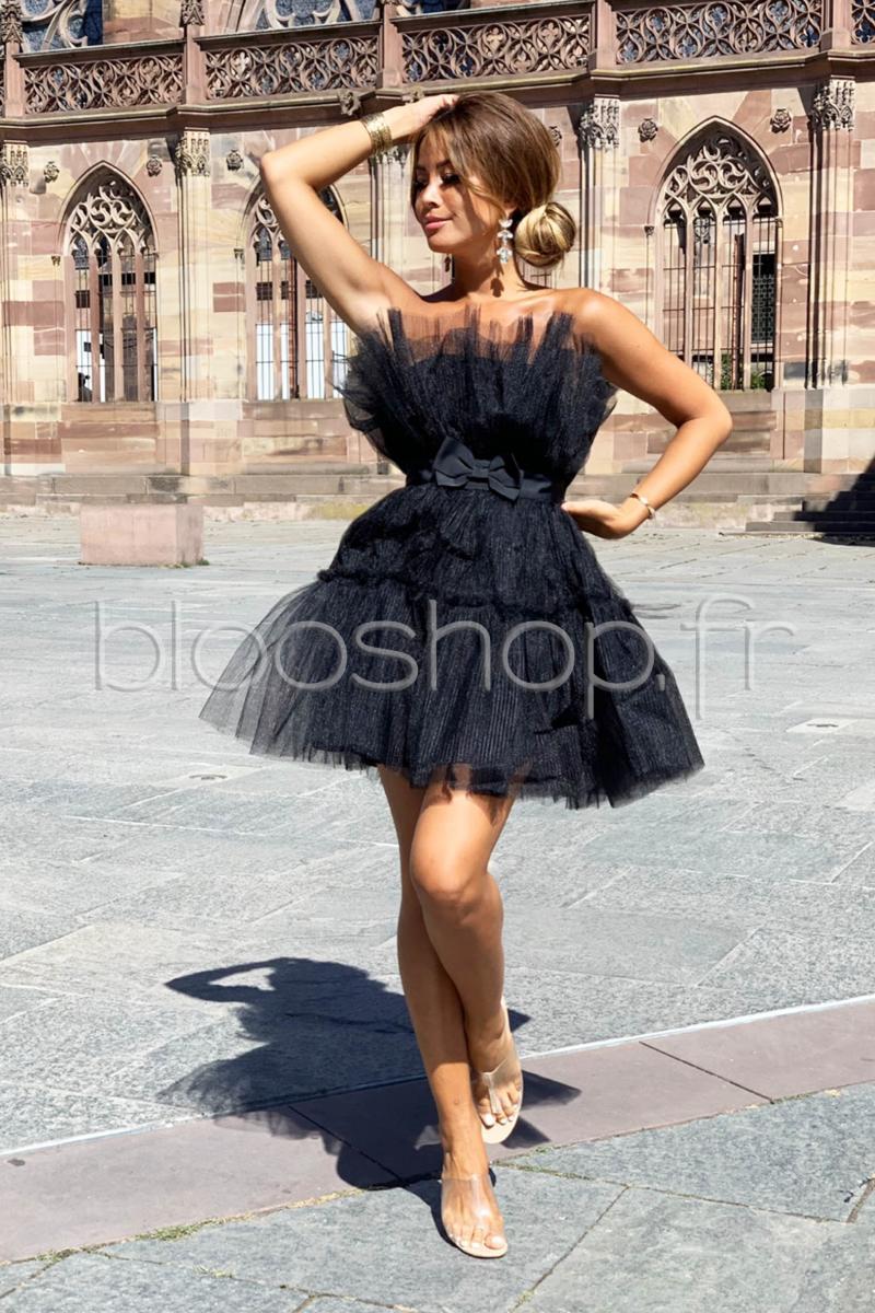 nouveau style 6afc9 41480 Robe Secrète Tulle Femme Noir / Réf : 3368 - Blooshop